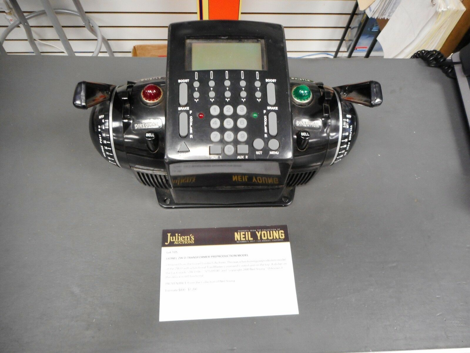 LIONEL ZW-D TRANSFORMER PREPRODUCTION MODEL (Neil Young Collection)