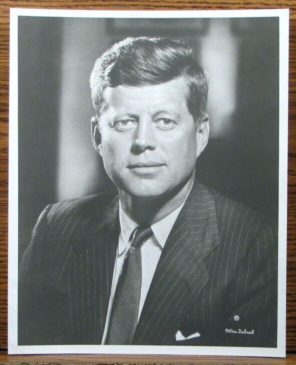 Fabian Bachrach ICONIC Portrait President John F. Kennedy JFK Press Photo 8x10