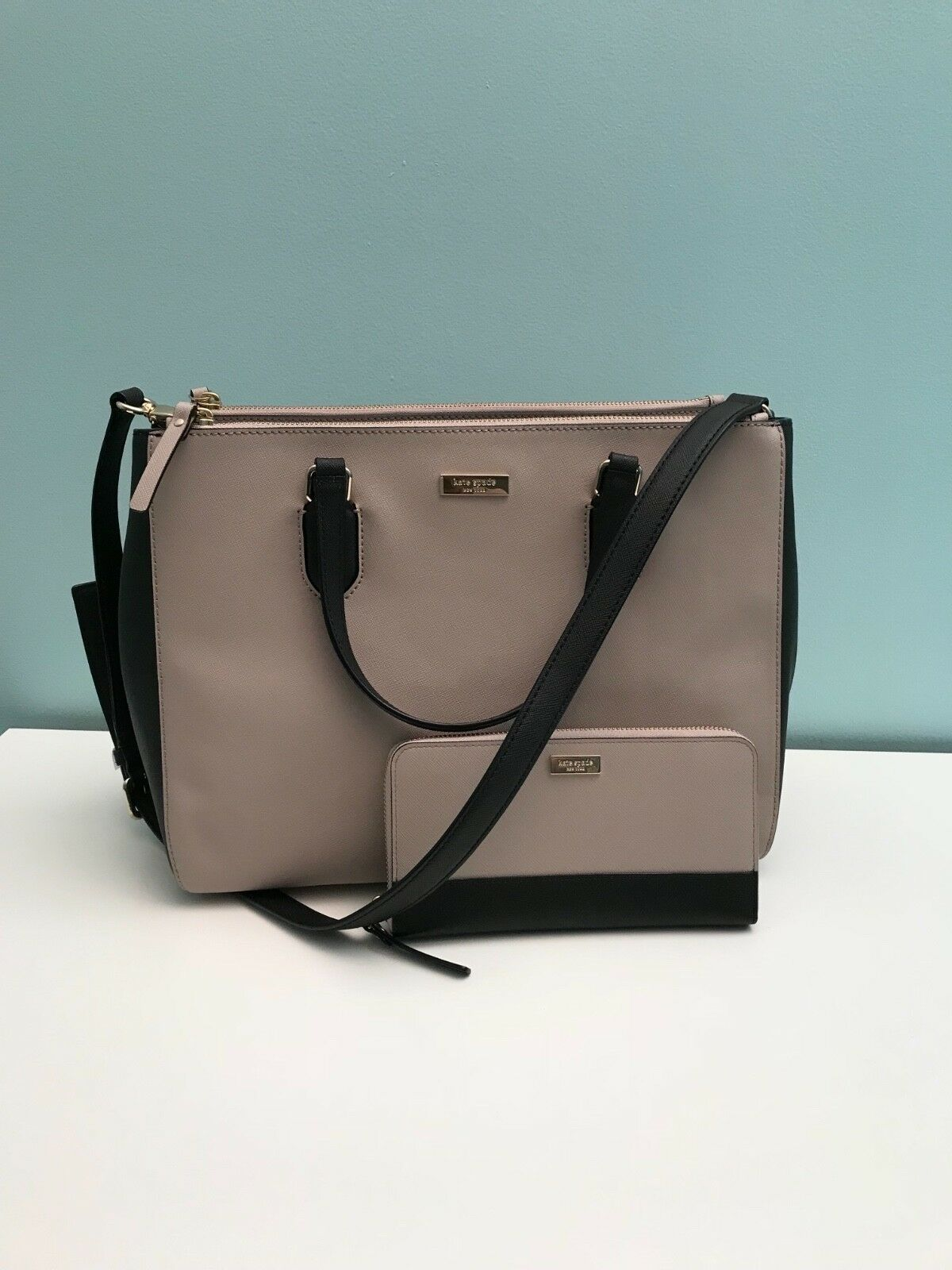 NWT Kate Spade Purse/Satchel/Large/Beautiful/Nude and Black!!!