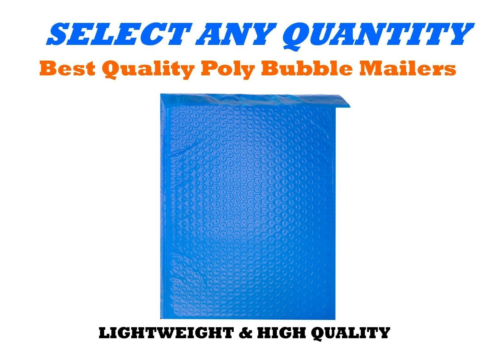 #1 7.25x12 BLUE POLY BUBBLE MAILERS SHIPPING MAILING PADDED ENVELOPES 7.25x11