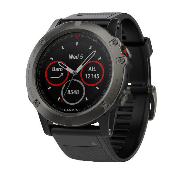 Garmin Fenix 5X Slate Gray Sapphire with Black Band GPS Multisport Watch