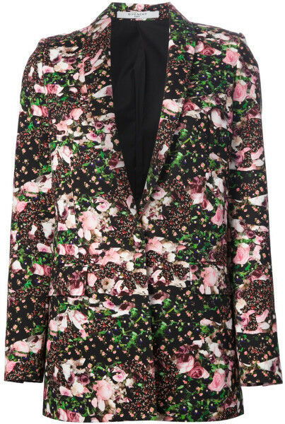 GIVENCHY Floral Print Blazer Jacket 36  US 4/6  UK 8/10 NWT $2.8K SALE!!!