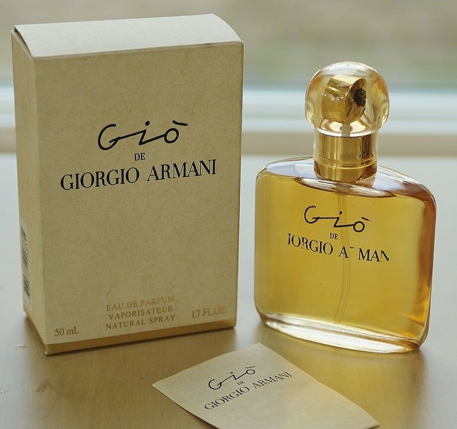 RARE Vintage  GIO by GIORGIO ARMANI  spray EDP 50 ml~1.7 oz  DISCONTINUED