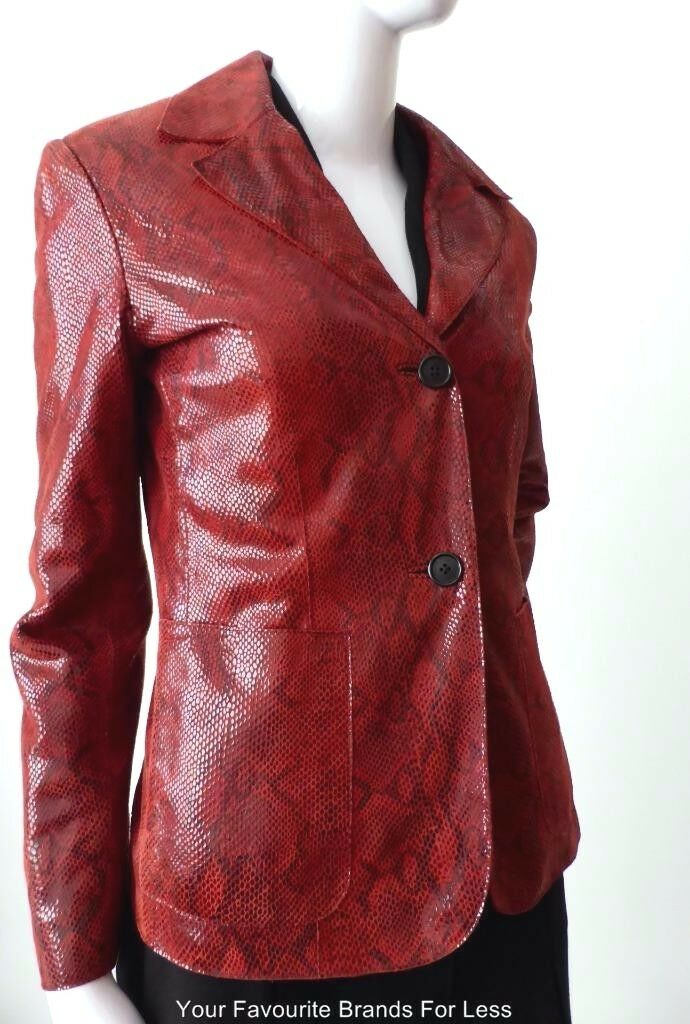 ANDREW MARC NEW YORK Size XS - Small Long Sleeve Leather Jacket  rrp AU $877.00