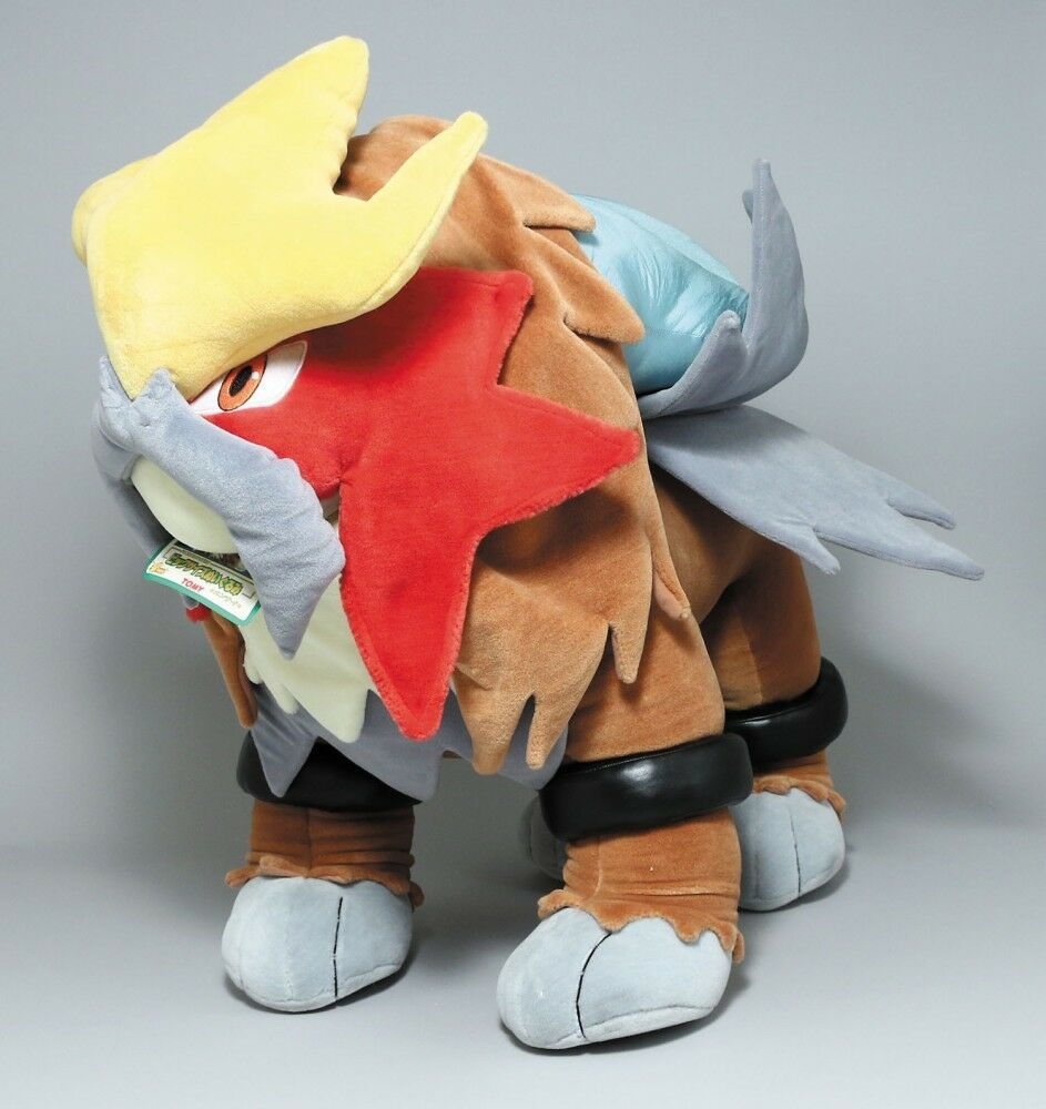 "2000 Tomy Pokemon Entei Big Size Plush Doll 28"" 70cm Theater LE Very Rare"