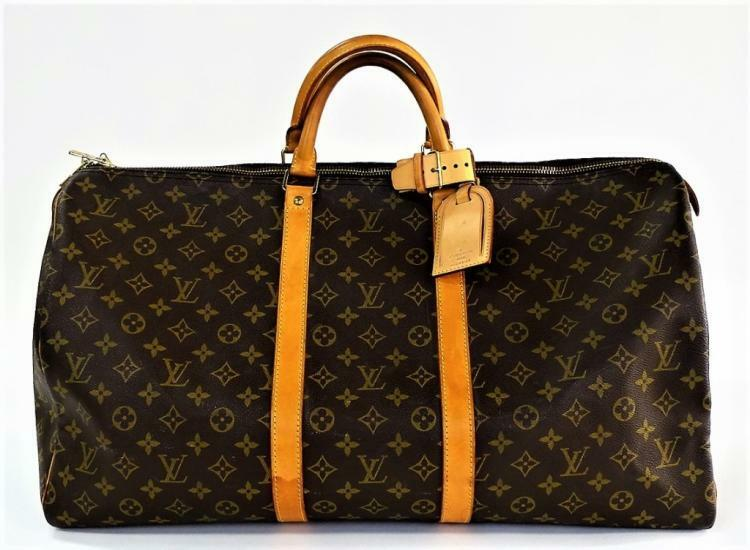 VTG LOUIS VUITTON KEEPALL 55 TRAVEL DUFFEL BAG Lot 88