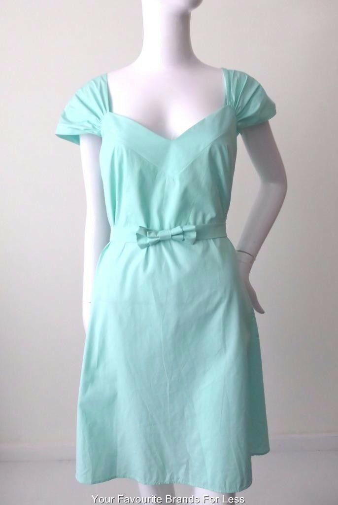 MIU MIU Green Cotton Dress Size IT 44  AU 14 US 10  Made in Italy rrp $1446.00