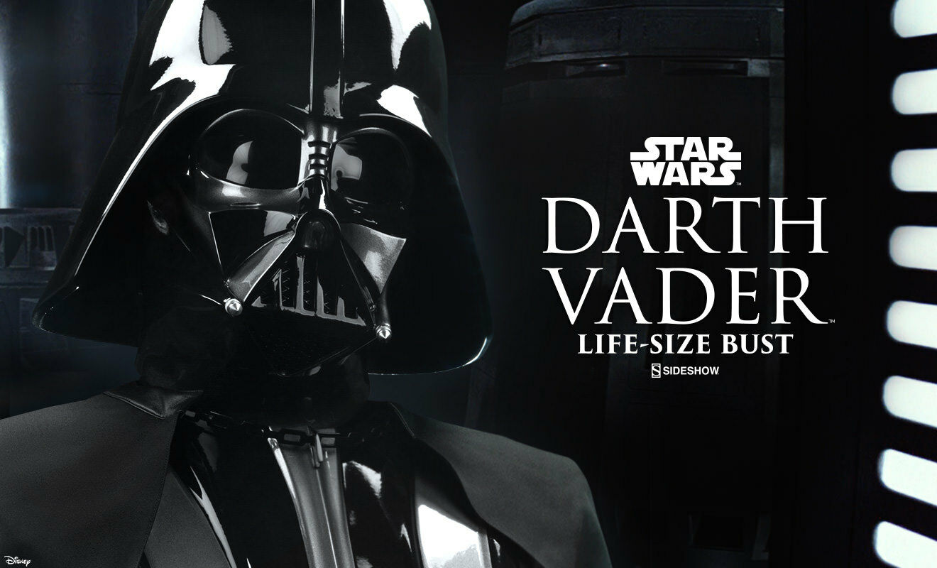 SIDESHOW STAR WARS DARTH VADER LIFE-SIZE BUST FIGURE STATUE LIMITED EDITION RARE