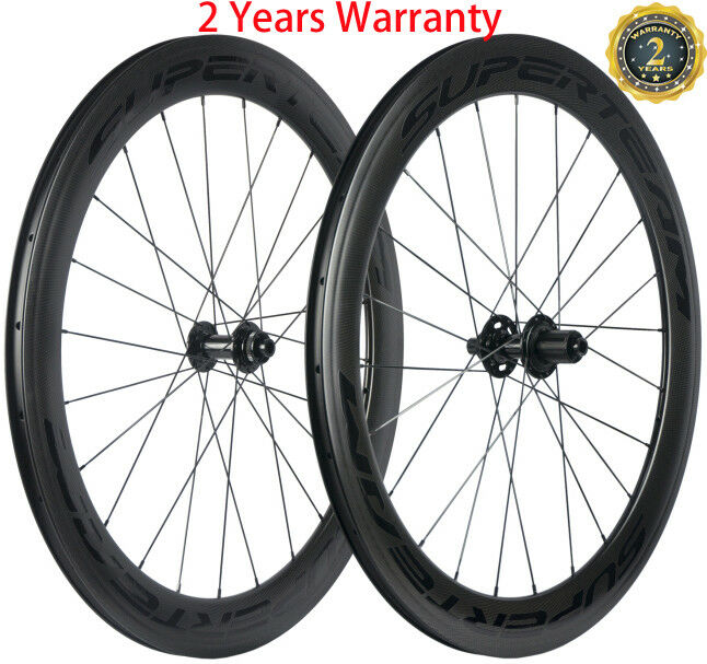 60mm Disc Brake Wheels CX3 6 Bolt/Center Lock Carbon Wheelset Clincher Bicycle