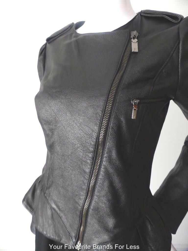 GIANFRANCO FERRE Leather Jacket Size 42 AU 10-12 US 6-8 Made in Italy rrp $2100.