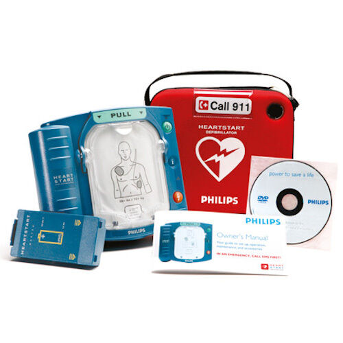 Philips HeartStart AED Onsite Defibrillator 6 YR Warranty HS1 New without Box