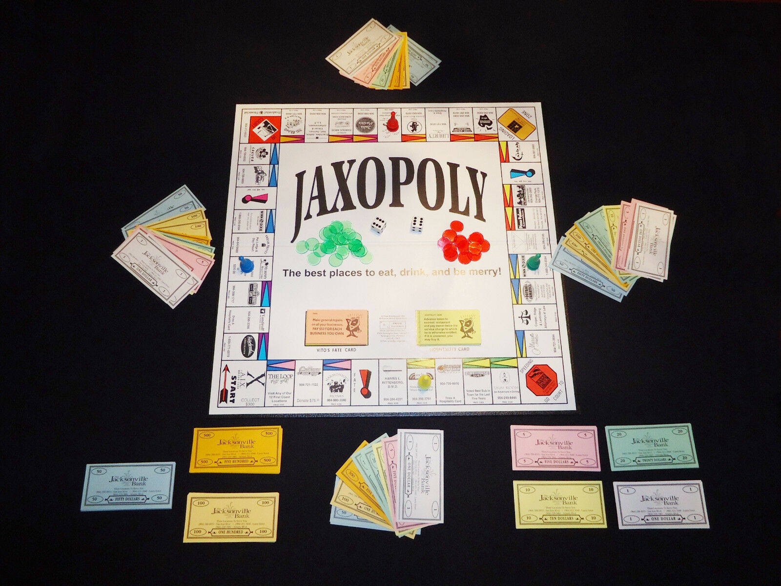 JAXOPOLY Board Game MONOPOLY style NEW Retails $2277 COLLECTABLE Jacksonville FL