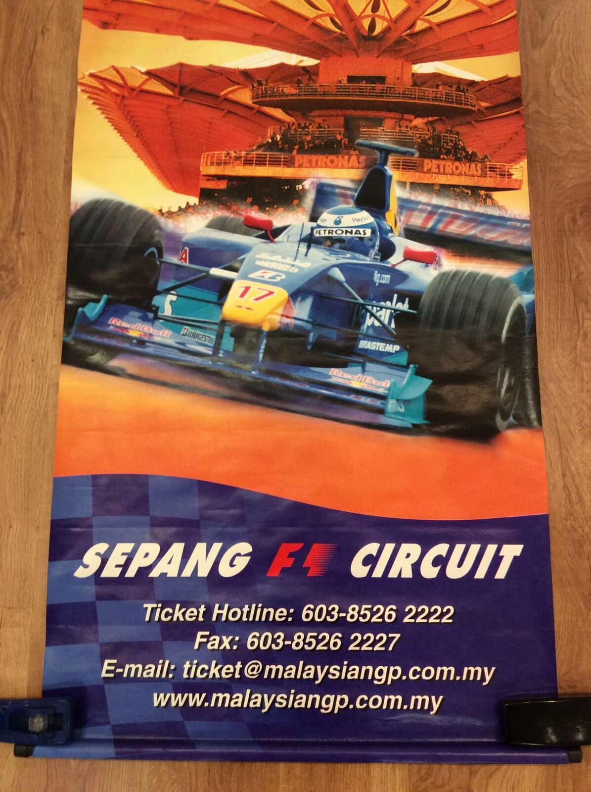 MALAYSIAN GRAND PRIX 2000 Original Huge SAUBER RED BULL Banner FORMULA 1 ONE