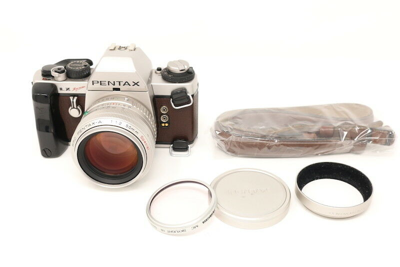 [SPECIAL EDITION MINT] Pentax LX 2000 Silver w/A 50mm F/1.2 from Japan #68803