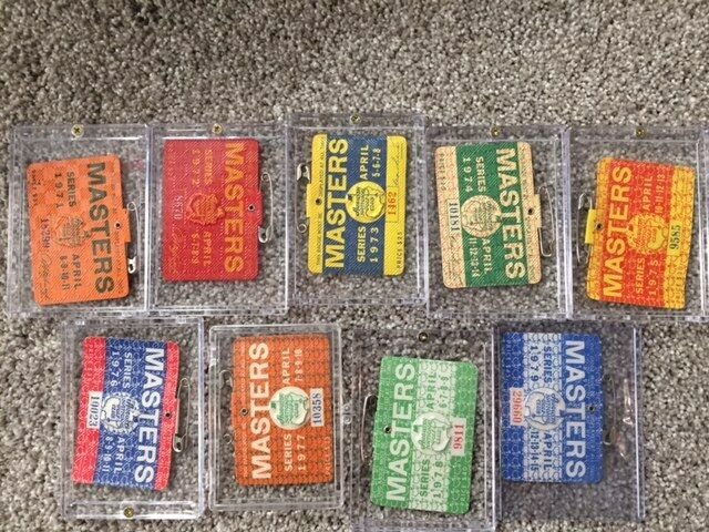 ULTIMATE MASTERS GOLF BADGES COLLECTION--VERY RARE TICKETS~1971-2000! AUGUSTA