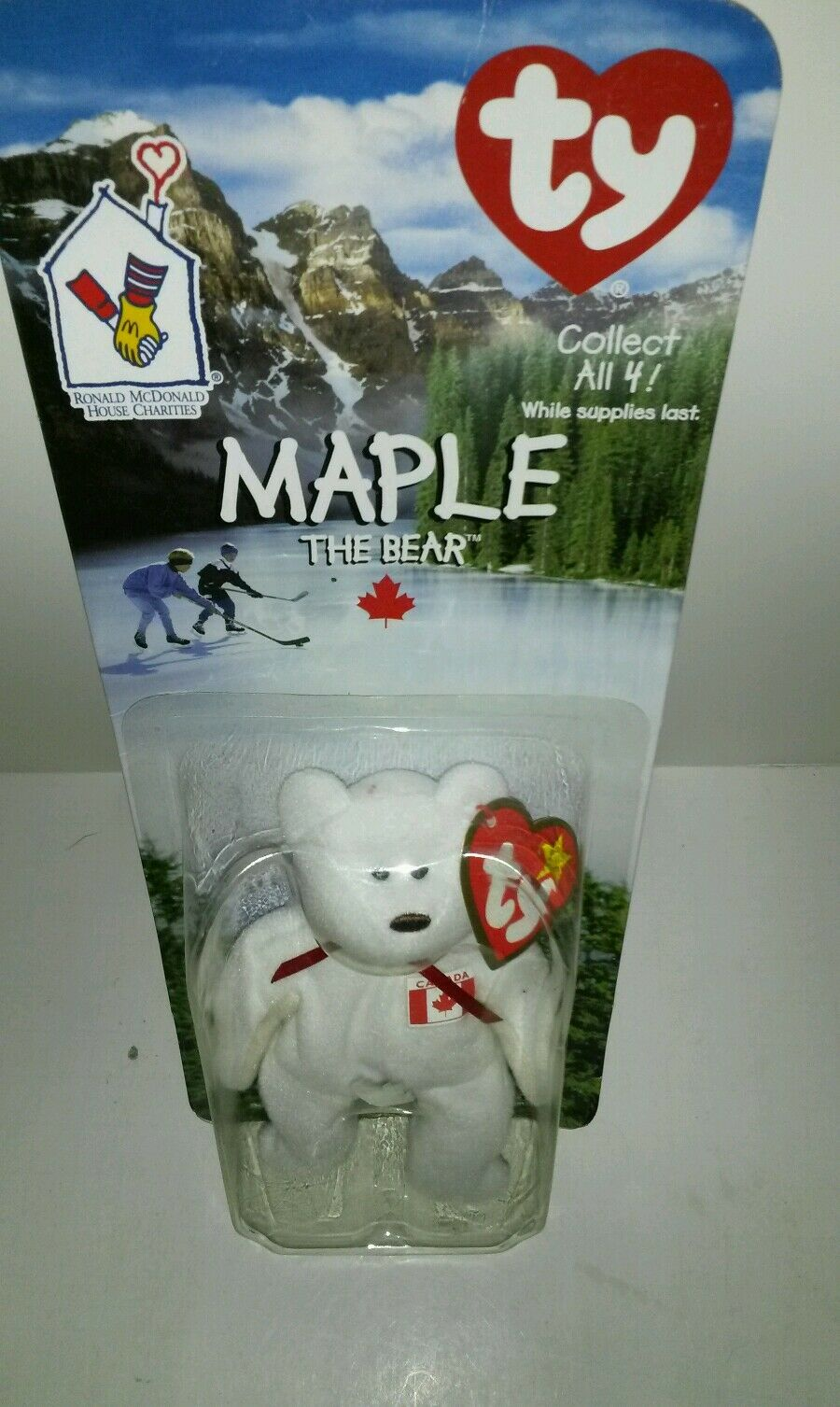 BRAND NEW TY BEANIE BABY MAPLE THE BEAR (McDonalds)(misprint)