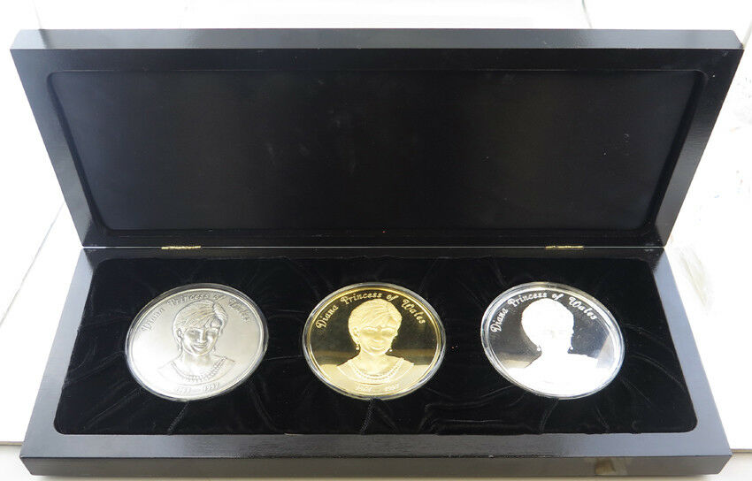 Diana Princess Of Wales Commemorative Silver.999 Coin Set 34 of 500 - 8 OZ