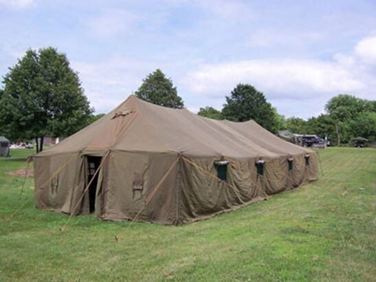 NEW VINYL GENERAL PURPOSE LARGE TENT (GP LARGE 18′ X 52′)