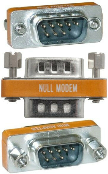 Lot500 DB9 Male~M Null Modem Nul/Cross Serial RS232 cable gender changer Adapter