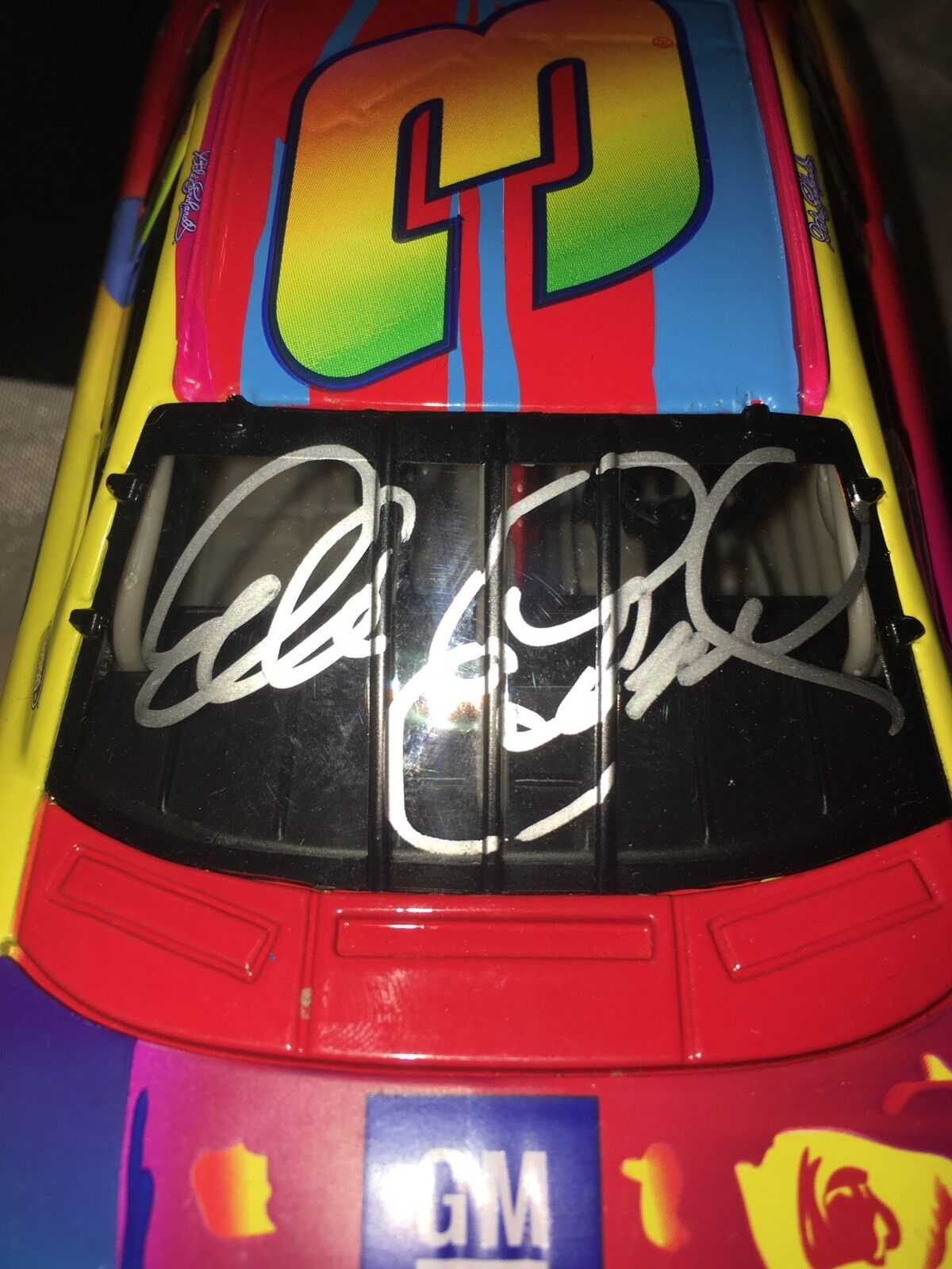 Signed JSA Dale Earnhardt #3 Peter Max 2000 Monte Carlo  Action 1/24