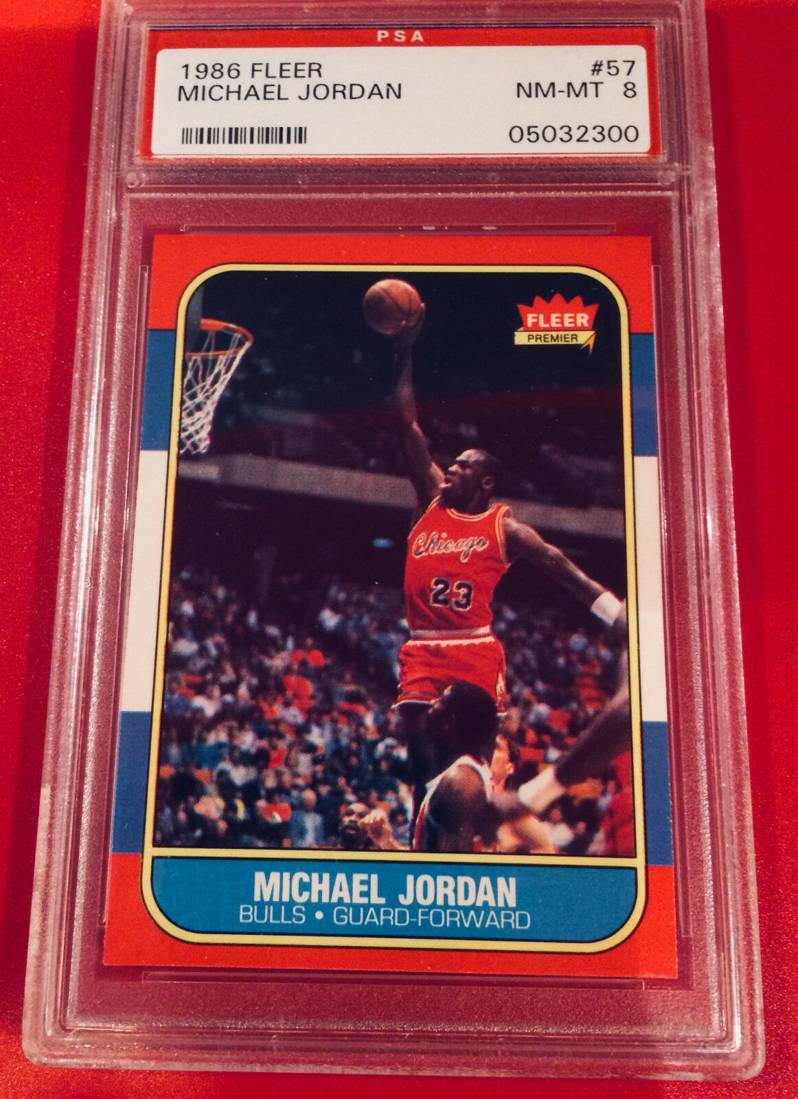 1986-87 FLEER Basketball MICHAEL JORDAN PSA 8 (Should be PSA 9) 86 RC # 57