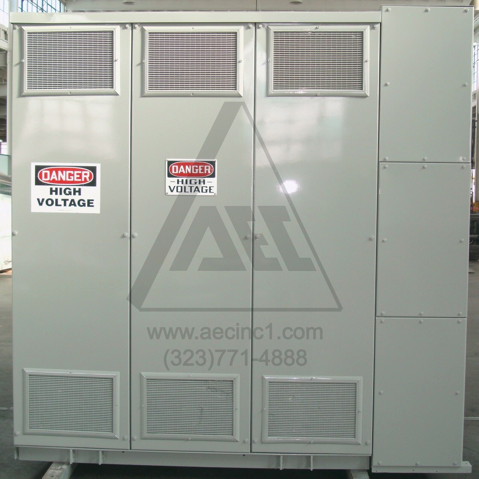 1500/2000 kVA, 3 Phase Dry Type Transformer 4160 - 480Y/277, 150ºC Rise Temp
