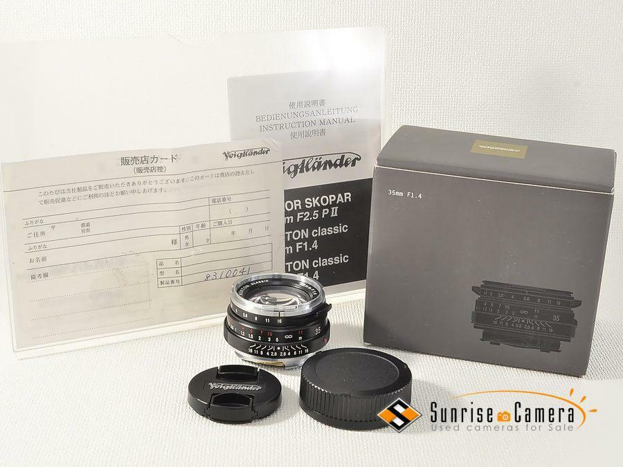 Voigtlander NOKTON classic 35mm F1.4 for Leica M [NEAR N] from Japan (11661)