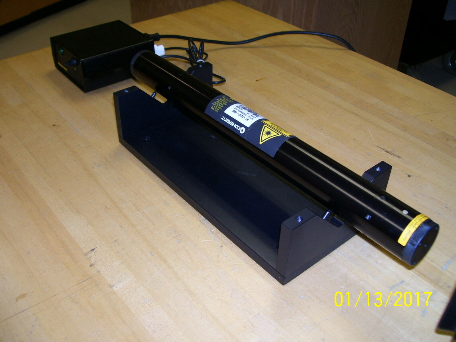 Yellow Helium Neon Laser >4.5 mW! New Old Stock!