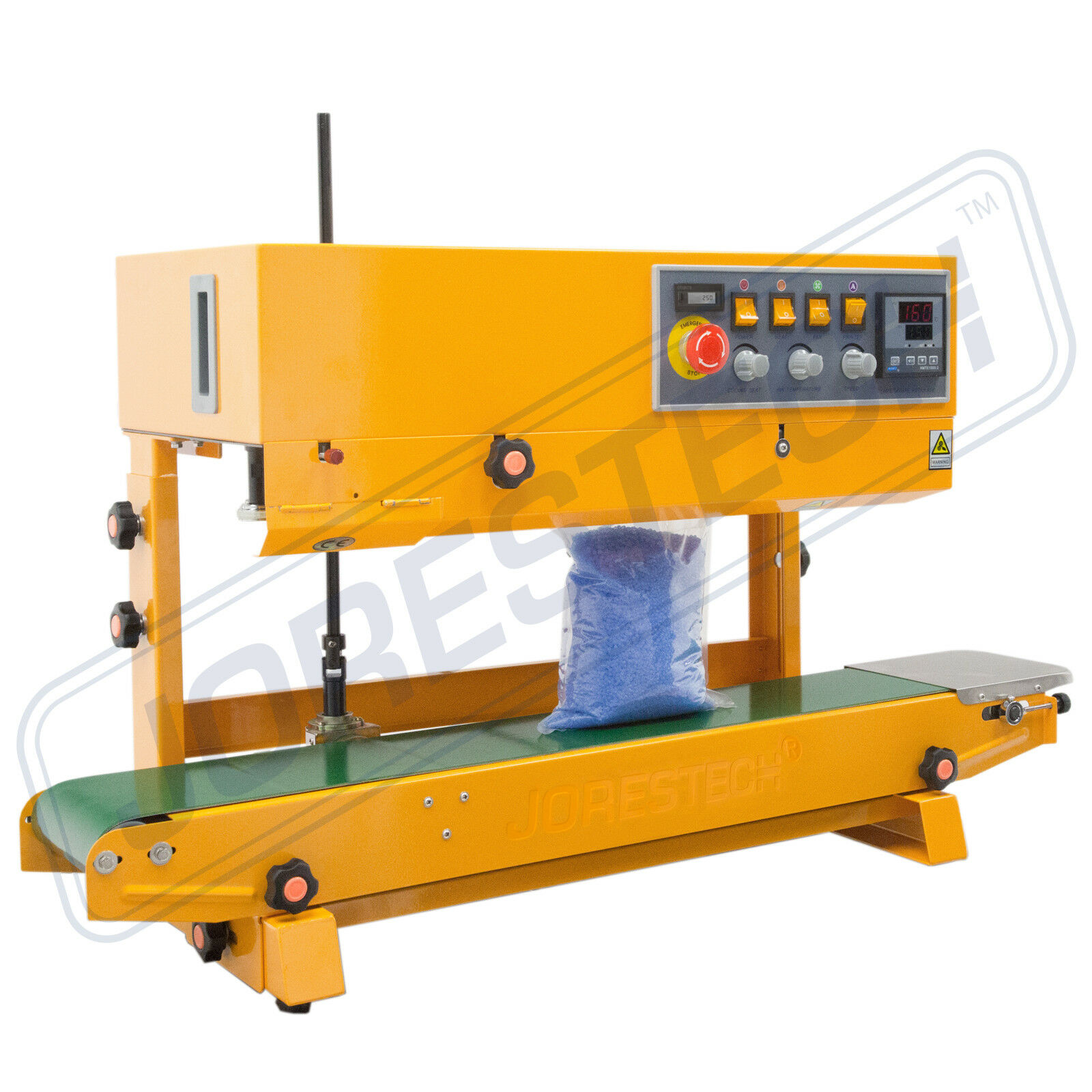 Continuous Plastic Bag Band Sealing Date Sealer printer Machine JoresTech