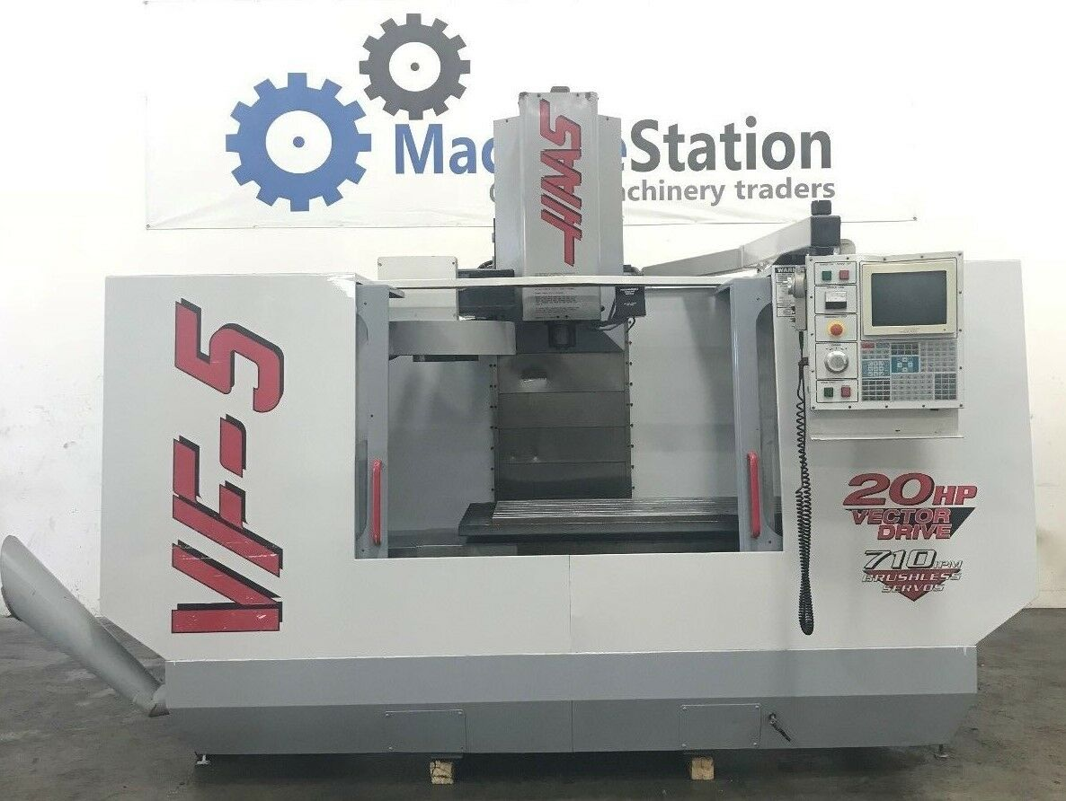 HAAS VF- 5 VERTICAL MACHINING CENTER VMC 20HP 4 AXIS READY 20 TOOLS  - VF5 6