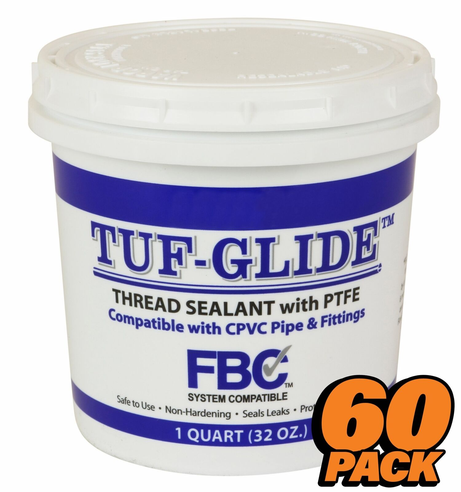QTY 60 Tuf Glide Thread Sealant w/ PTFE - 32oz 950ml fits LA-CO® and SLIC-TITE®