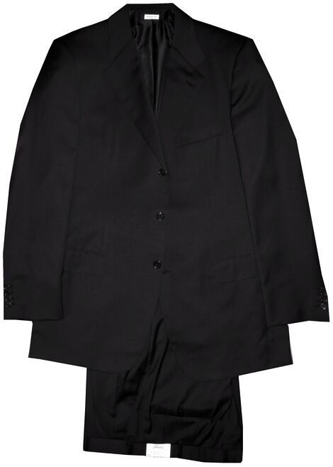 $5500 NEW BRIONI BLACK 4 SEASON 150'S 3 BUTTON PALATINO 21 SUIT EU 58 48L 48 L