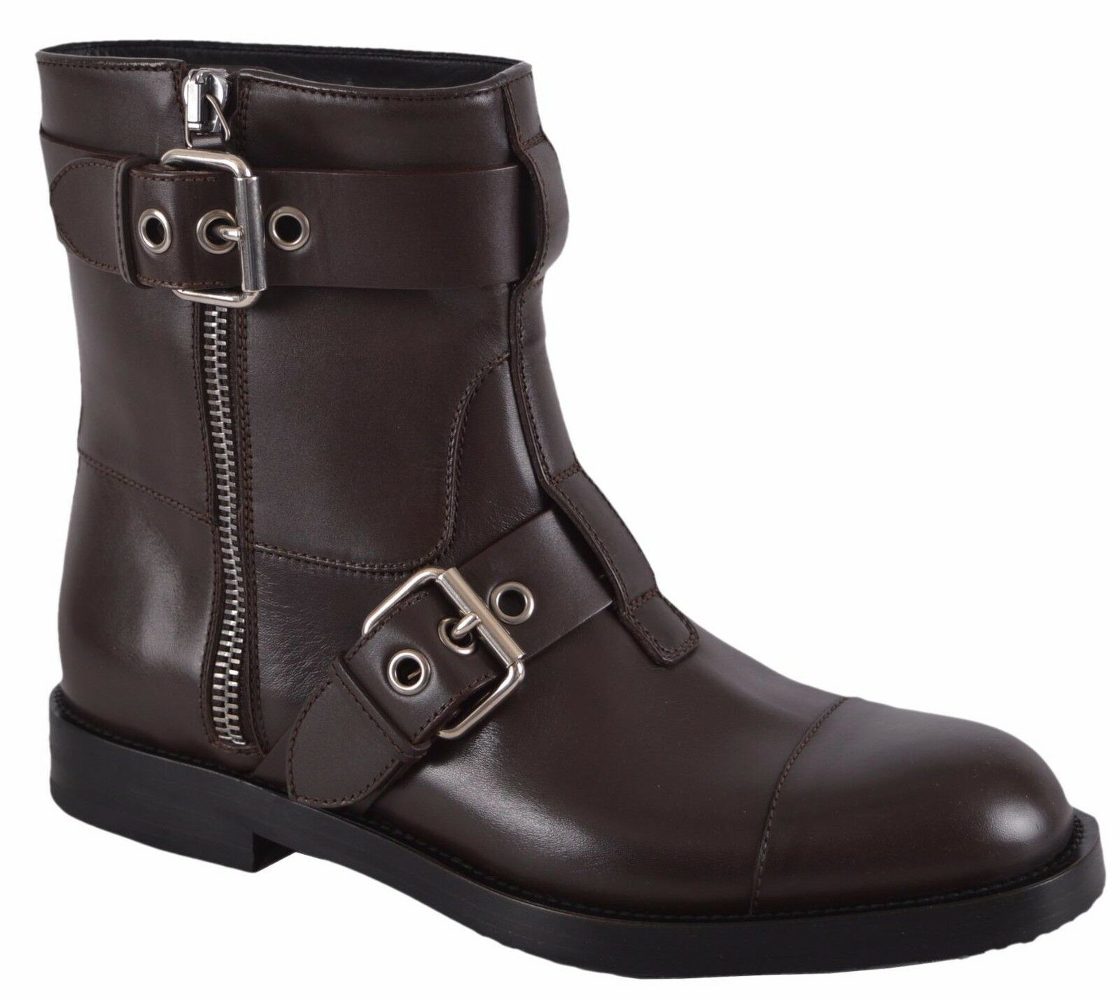 NEW Gucci Men's 368430 $1,095 Leather Sella Ankle Biker Boots Shoes 13 G 14 US