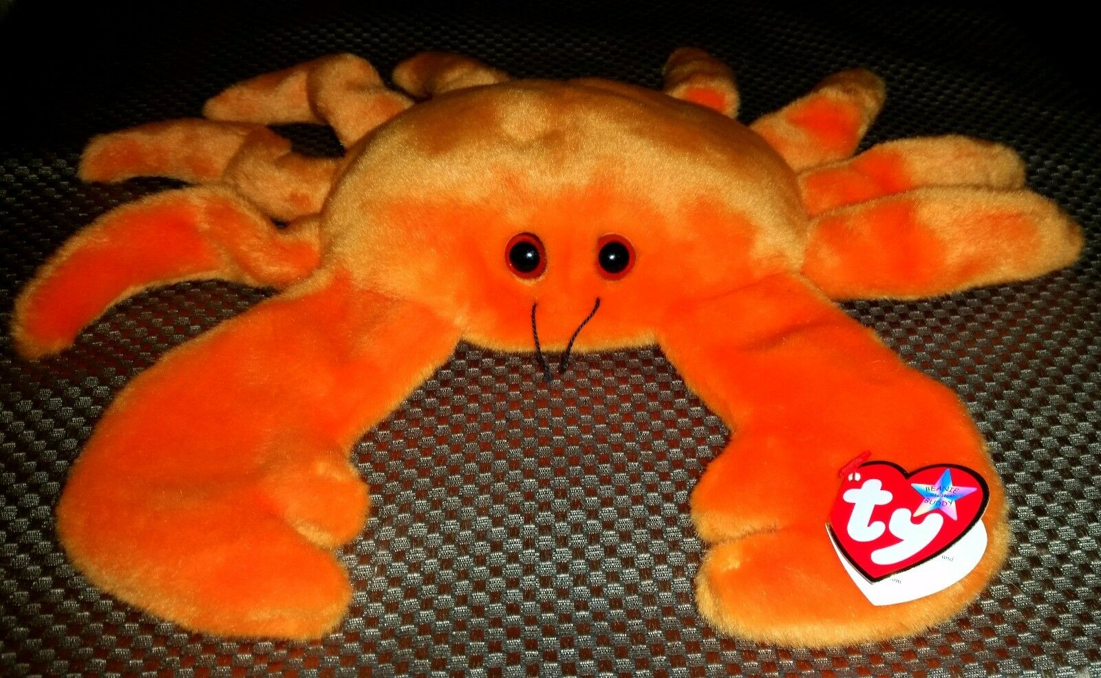 VTG Error Rare Retired 1999 TY Digger Beanie Buddies Orange Crab 15