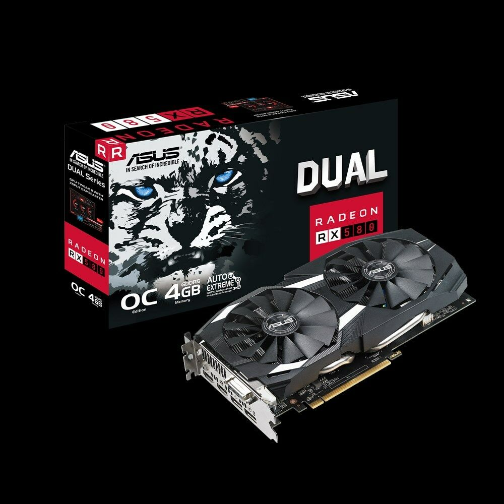 ASUS AMD Radeon RX 580 4GB GDDR5 DUAL FAN OC Edition Graphics card 4 GB