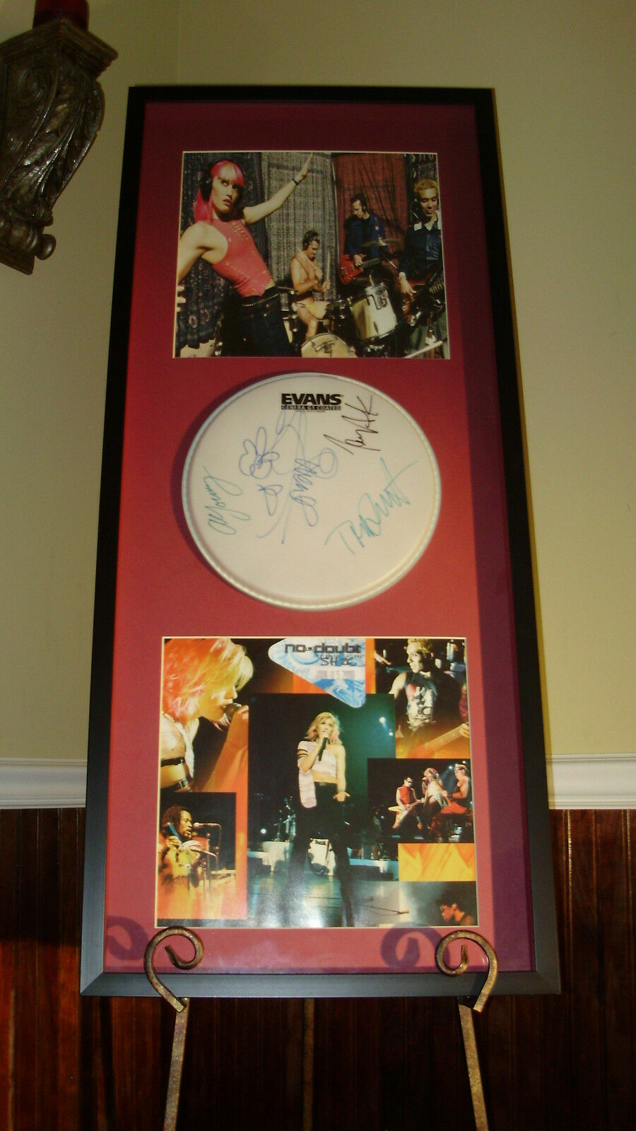 NO DOUBT - GWEN STEFANI - AUTOGRAPHED / SIGNED DRUMHEAD RETURN OF SATURN CD TOUR