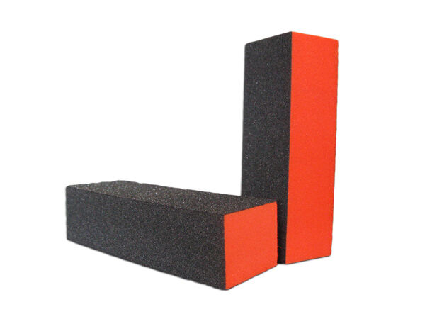 File Block Sanding Block Orange Pack Filing Blocks Grit 180/100 Bulk Discounts