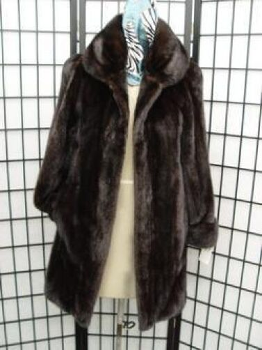 BRAND NEW CANADIAN DARK RANCH MINK FUR COAT JACKET WOMEN WOMAN SIZE ALL