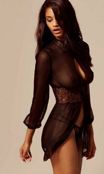 AGENT PROVOCATEUR SOIREE Kari Gown Black BNWT