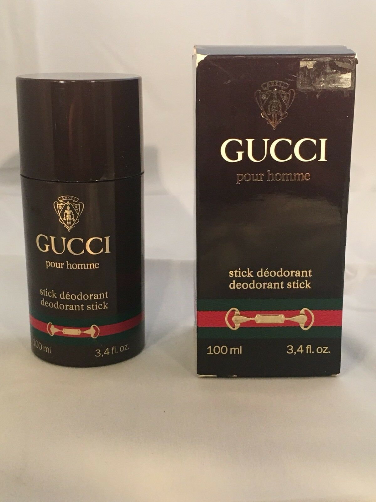 Gucci Pour Homme Stick Deodorant for Men 3.4 fl oz New in Worn Box