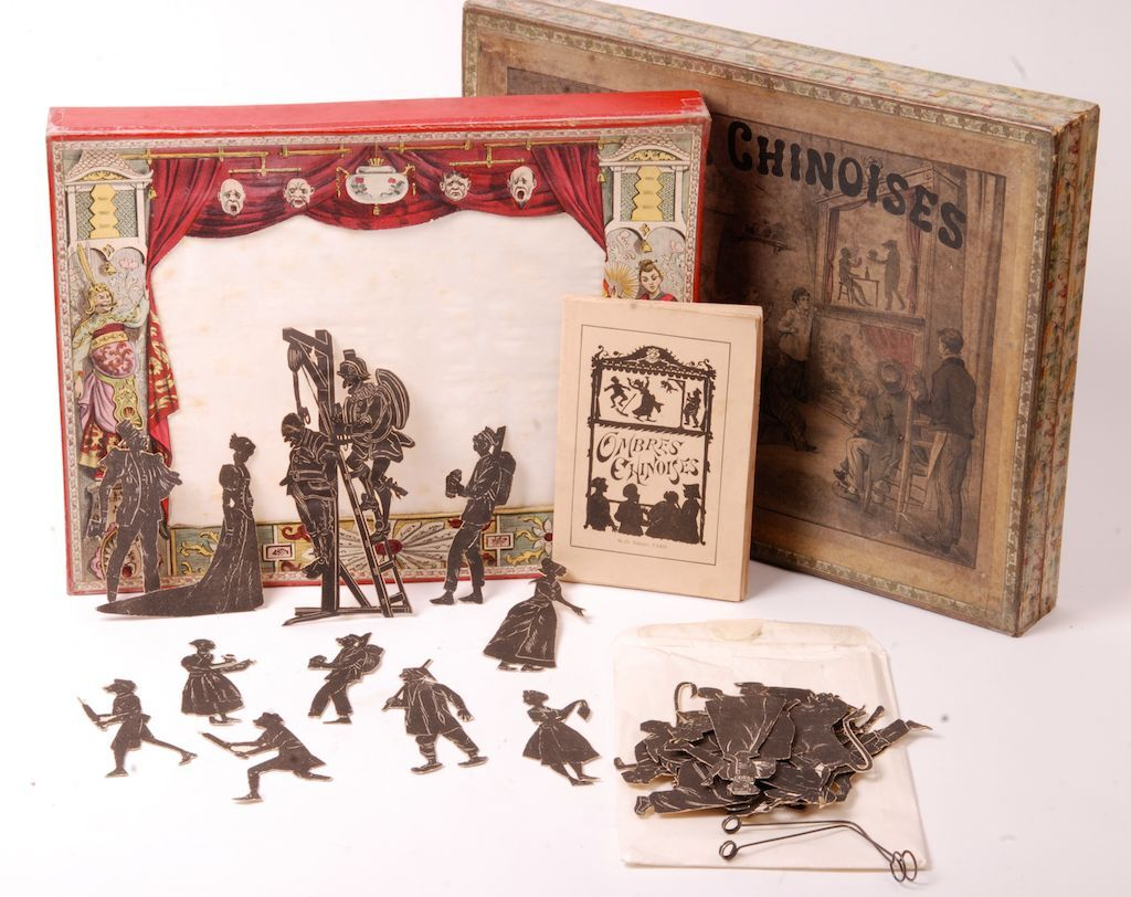 Theatre shadow chinese, circa 1880