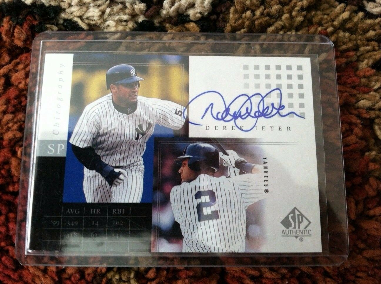 2000 SP Authentic Chirography Derek Jeter Autograph - Yankees