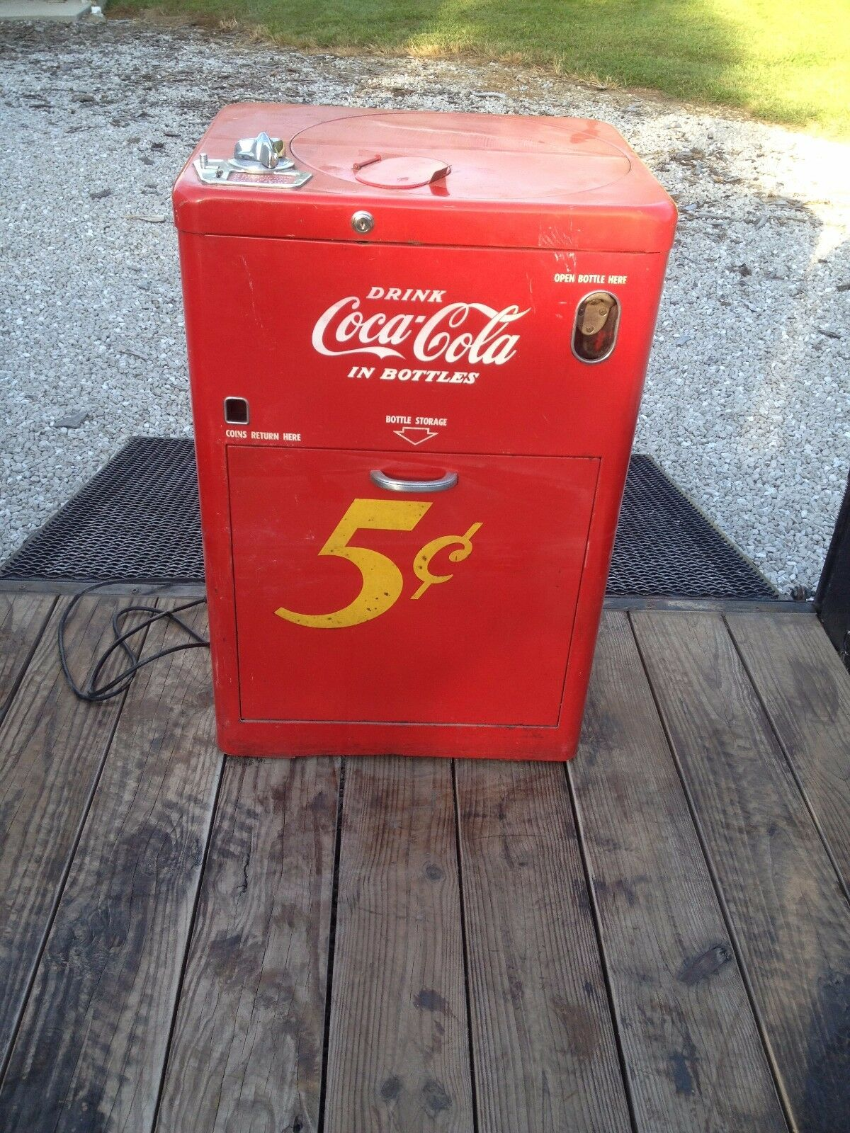 1950's Coke Vendo 23 Coca Cola Spin-top Vending Antique Soda Machine Pick Up