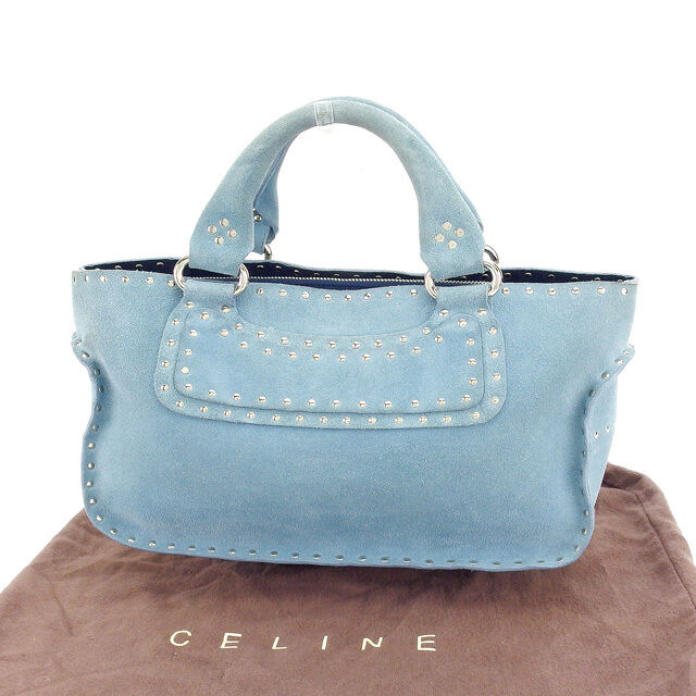 Auth CELINE handbag Women with studs used D1399