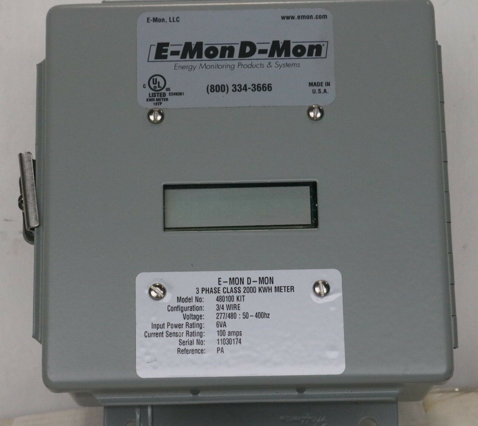 Brand New E-mon 480100KIT/ 11030174 (100A 277/480 Volt) Class 2000 In Box