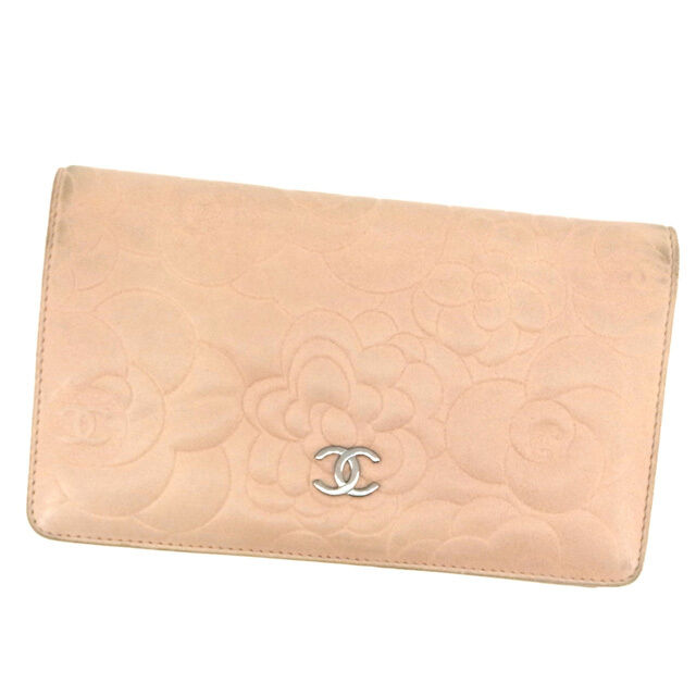 Auth CHANEL long Bill Compartment Coco mark used F504