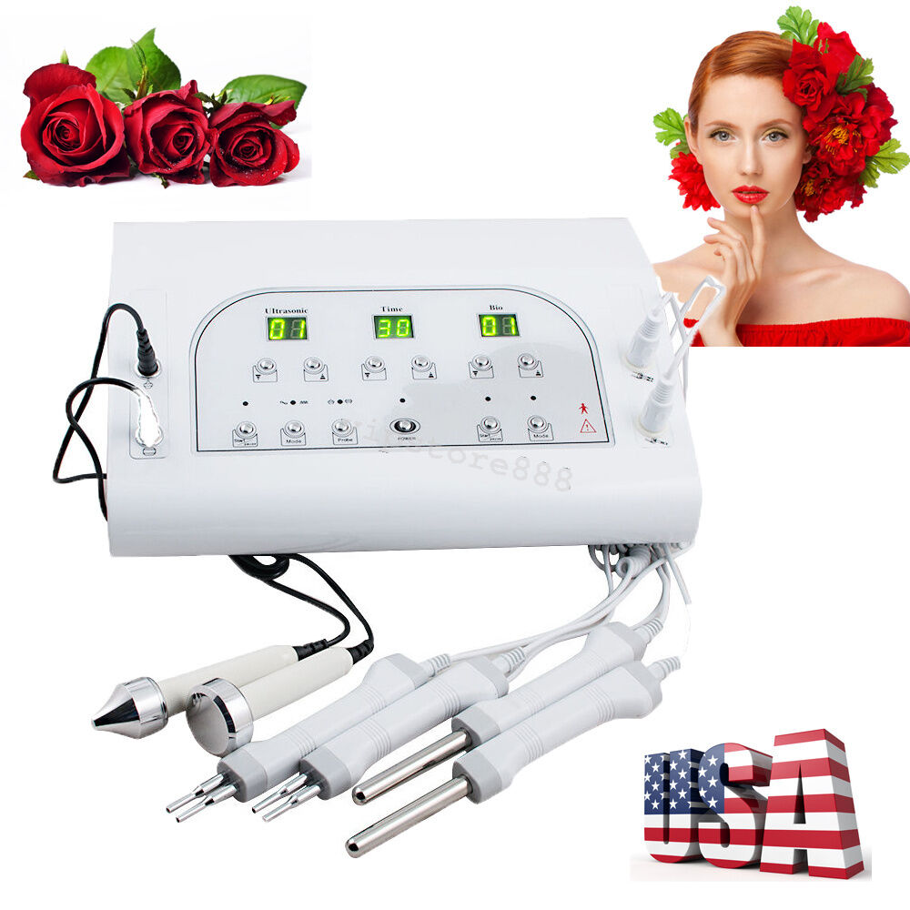 US FAST SHIP Microcurrent Ultrasound Facial Skin Tone Lift Beauty Machine Salon