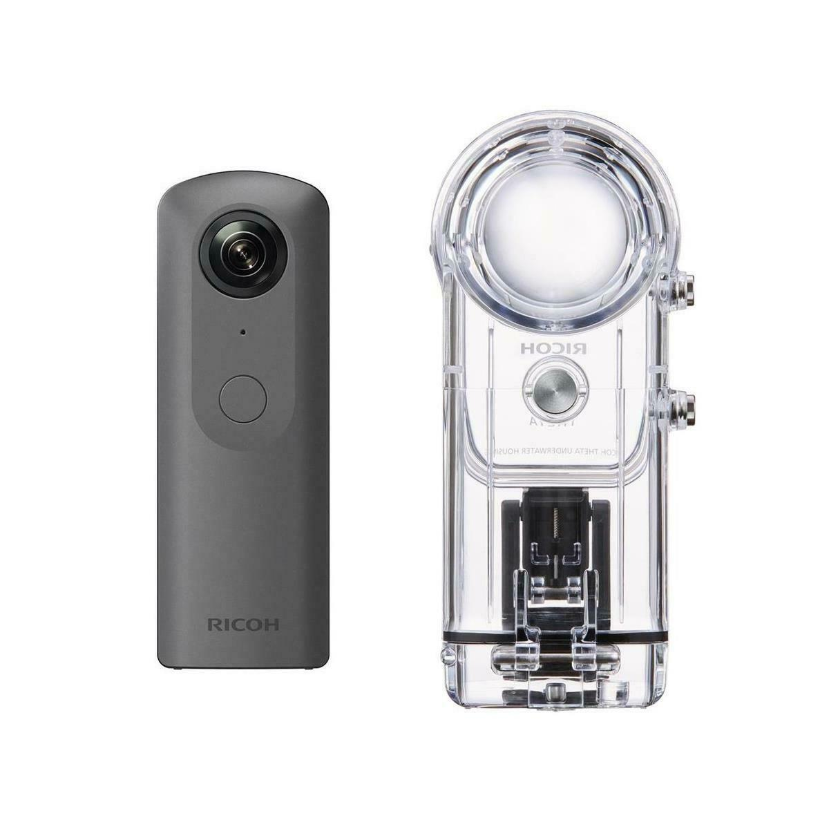 Ricoh Theta V 360 Degree Panorama Camera Black W/Ricoh TW-1 Underwater Housing