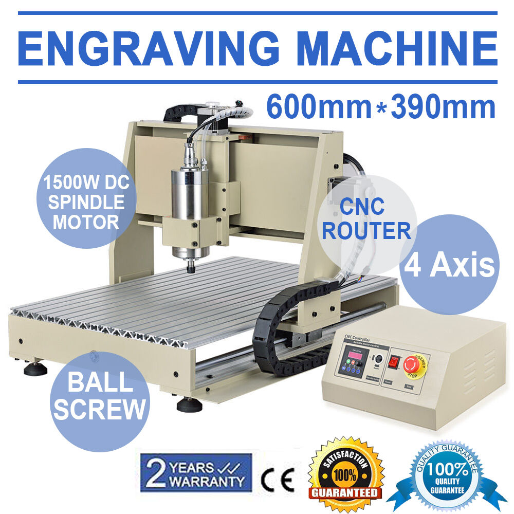 220V EU 4 Axis 1.5KW CNC Router 6040 Engraver Engraving Drilling Milling Machine