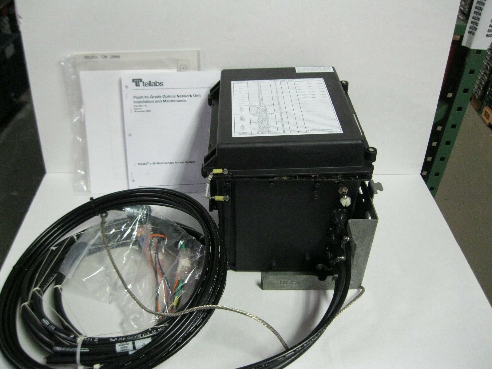 Tellabs MSAS 1150 Optical Network Unit Outdoor Cabinet Flush to Grade DISC-S MX